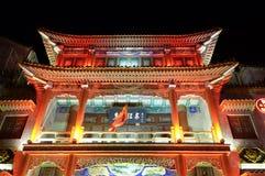 Gebäude des traditionellen Chinesen auf der Qianmen-Straße in Peking Lizenzfreie Stockfotografie