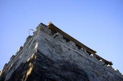 Gebäude des traditionellen Chinesen errichtet durch Ziegelstein Lizenzfreies Stockbild