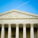 Gebäude-Detail des Obersten Gerichts der USA Lizenzfreies Stockbild