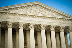 Gebäude-Detail des Obersten Gerichts der USA Lizenzfreie Stockfotos