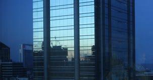 Gebäude einer blauen Stadt Stockbilder