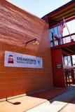GEBÄUDE-Eingang historischer Stätte Steamtown nationaler Haupt Stockbilder