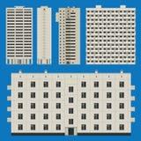 Gebäude eingestellt mit Blockhäusern Lizenzfreies Stockfoto
