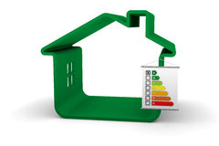 Gebäude-Energie-Leistung eine Klassifikation stockfotos
