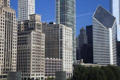 Gebäude entlang Michigan-Allee Stockfotografie
