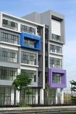 Gebäude façade Design mit Muster und Farben Lizenzfreies Stockfoto