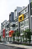 Gebäude façade Design mit Muster und Farben Lizenzfreie Stockbilder