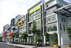 Gebäude façade Design mit Muster und Farben Lizenzfreies Stockbild