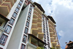 Gebäude façade Design mit Muster und Farben Lizenzfreie Stockfotos