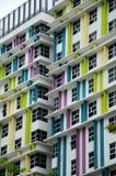Gebäude façade Design mit Muster und Farben Stockfotos
