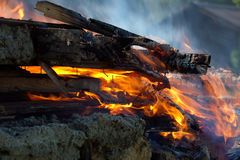 Gebäude-Feuer Stockfoto