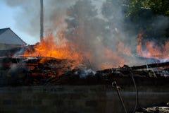 Gebäude-Feuer Stockfotografie