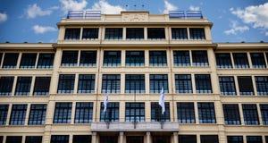 Gebäude Fiats Lingotto in Turin Italien Stockfotos