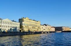 Gebäude Fontanka Fluss Lizenzfreie Stockfotografie