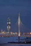 Gebäude-Gazprom-Turm, aufgerichtete Wolkenkratzer Lakhta-Mitte, St. Peter Stockfoto