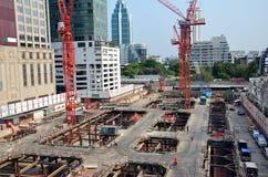 Gebäude-Geschäftsbau bei Thailand Stockfotografie