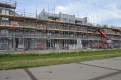 Gebäude-Häuser bei Diemen die Niederlande Stockfotos
