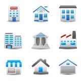 Gebäude-Ikonen Stockbild