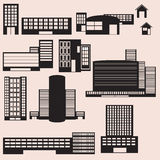 Gebäude-Ikonen für Ihre Designe Lizenzfreies Stockfoto