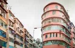 Gebäude im alten Stadtzentrum von Hong Kong, Asien Stockfotografie