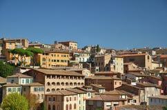 Gebäude im alten Stadtzentrum von Siena, Italien Lizenzfreies Stockbild