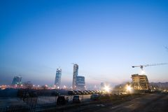 Gebäude im Bau lizenzfreie stockfotografie