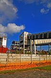 Gebäude im Blau Lizenzfreies Stockfoto