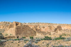 Gebäude im Chaco-Kultur-nationalen historischen Park, Nanometer, USA Lizenzfreies Stockbild