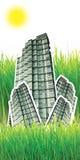 Gebäude im grünen Gras Lizenzfreie Stockfotografie