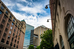 Gebäude in im Stadtzentrum gelegenem Atlanta, Georgia lizenzfreies stockbild