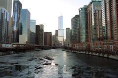 Gebäude in im Stadtzentrum gelegenem Chicago Lizenzfreie Stockfotografie