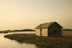 Gebäude im Sumpf lizenzfreie stockfotos