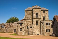 Gebäude innerhalb Carisbrooke-Schlosses stockbild