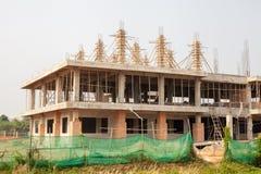 Gebäude ist im Bau Stockfotos