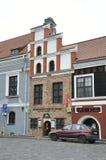 Gebäude Kaunas August 21,2014-Historic in Kaunas in Litauen Stockfotografie
