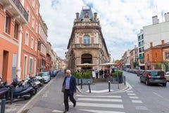 Gebäude Le Telegramme in Toulouse Stockbild