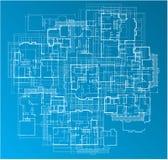 Gebäude-Lichtpause Lizenzfreie Stockfotos