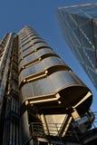 Gebäude London Lloyds und Leadenhall Stockbild