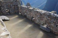 Gebäude Machu Picchu lizenzfreies stockbild