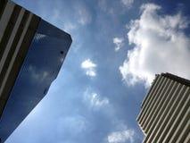 Gebäude mit blauem Himmel Lizenzfreies Stockfoto