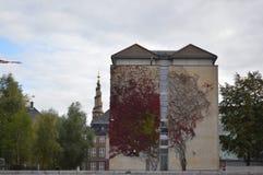 Gebäude mit Efeu in Kopenhagen Lizenzfreie Stockfotos