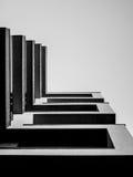 Gebäude mit geometrischem flüchtigem Blick einer Lizenzfreie Stockfotografie