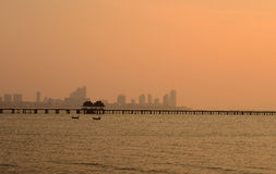 Gebäude nahe dem Meer, Pattaya Thailand Stockbild