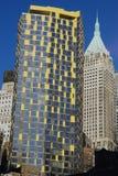 Gebäude in NYC im Stadtzentrum gelegen Stockfotos