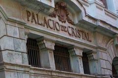 Gebäude Palacio de Cristal in Havana, Kuba lizenzfreies stockbild