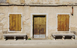 Gebäude in Pazin lizenzfreies stockbild