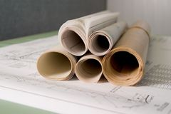 Gebäude-Pläne Stockfotos