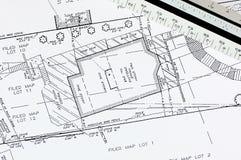Gebäude-Plan Stockfotografie