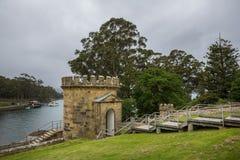 Gebäude Port Arthur-an der Strafkolonienwelterbestätte in Tas lizenzfreies stockfoto