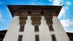 Gebäude Punakha Dzong stockbild